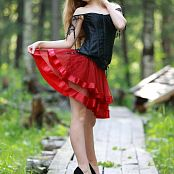 Silver Jewels Alice Red Skirt Set 5 0315