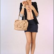 TeenModelingTV Sage Blue Skirt Picture Set