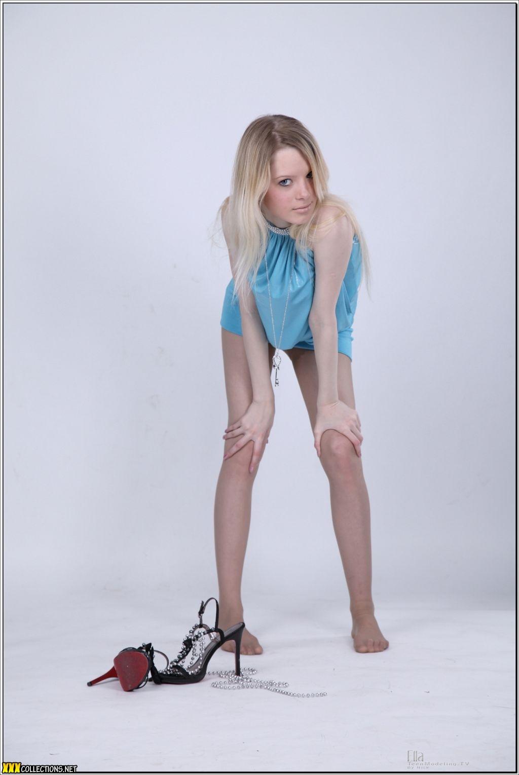 Peachez Teen Model Picture Sets Pack Download: TeenModelingTV Ella Baby Blue Mini Picture Set Download
