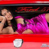 Karina Gomez Sweet Shiny Purple Lingerie TCG Set 001 056