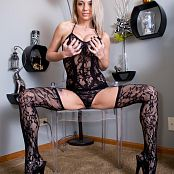 Nikki Sims Black Lace Body Suit Pics 587