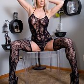 Nikki Sims Black Lace Body Suit Pics 588