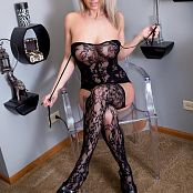 Nikki Sims Black Lace Body Suit Pics 641