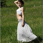 TeenModelingTV Sage Grey Skirt Picture Set