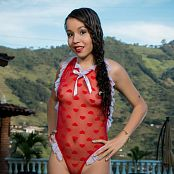 Mellany Mazo Sheer Red T Back TBS Set 001 603
