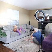 Jana Fox Purple Mesh BTS HD Video