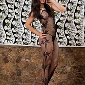 Natalia Marin Sheer Black Mesh Bodysuit TCG Set 003 128