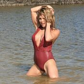 Madden Red Swimsuit Picture Set