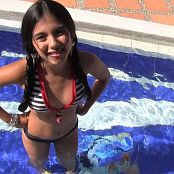 Karina Gomez Cute Striped Bikini TCG HD Video 001
