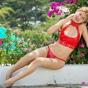Tammy Molina Red Low Cut TM4B Picture Set 003
