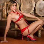 Tammy Molina Red Strap T-Back TM4B Picture Set 002
