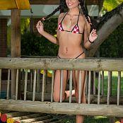 Wendy Mazo Checkered Bikini TBS Set 006 1150