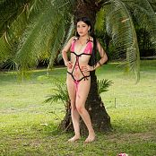 Emily Reyes Pink & Black T-Back TM4B Picture Set 008
