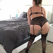Kalee Carroll OnlyFans Black Lingerie & Stockings Tease HD Video