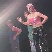 Britney Spears Medley Pink & Black Latex Outfit Live Woodstock 1999
