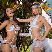Tammy Molina and Poli Molina Beautiful White Lingerie Group 5 TCG Set 005 0485