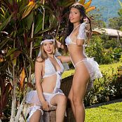 Tammy Molina & Poli Molina Beautiful White Lingerie Group 5 TCG Picture Set 005