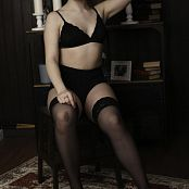 TaoZips Sarah Black Stockings 0084