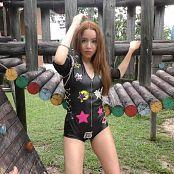 Mellany Mazo Shiny Black Zippered One Piece TBS 4K UHD & HD Video 004