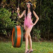 Ximena Goez Sheer Pink Lingerie TM4B Set 018 1244
