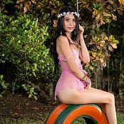 Ximena Goez Sheer Pink Lingerie TM4B Set 018 1298