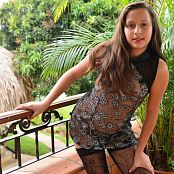 Silver Pearls Marisol Black Stockings Picture Set 2