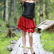 Silver Jewels Alice Red Skirt Picture Set 5