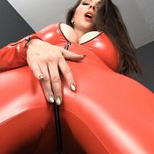 Goddess Alexandra Snow Video Star Red Latex Catsuit HD Video