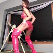 Nikki Sims Sexy Dance in Red Shiny Latex nikki022414 210418 mp4