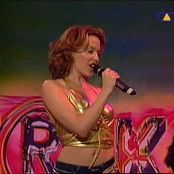 Kylie Minogue Spinning Around Interaktiv Golden Latex Top 260518 mpg