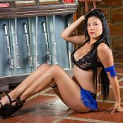 Andrea Restrepo Black and Blue Lingerie TM4B Set 006 040