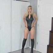 Princess Lyne Black Leather Swimsuit JOI HD Video 090618 mp4