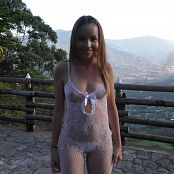 Mellany Mazo Sheer White Bodysuit TBS 4K UHD & HD Video 016