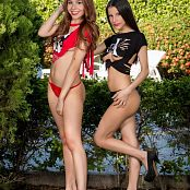 Britney Mazo and Mellany Mazo Torn T Shirts Group 3 TBS Set 003 075