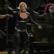 Britney Spears onyx hotel Blonde Hair Overprotected black latex 030718 avi