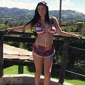 Andrea Restrepo Red and White Bikini TCG HD Video 001 060718 mp4