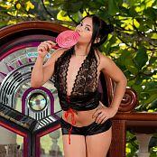 Kim Martinez 2 Piece Black T Back TCG Set 002 341