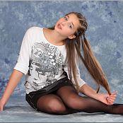 TeenModelingTV Talia Black Zipper Skirt 0654