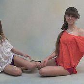 TeenModeling Anastasia and Yulia Hotpants Photoshoot HD Video 210718 wmv