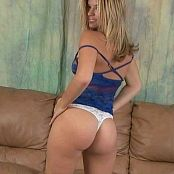 Halee Model Blue Lingerie & White Thong Dance Tease Video