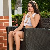 Sofia Sweety White Thong and Torn T Shirt NSS Set 008 041