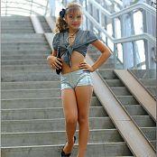 TeenModelingTV Khloe silver top 2253