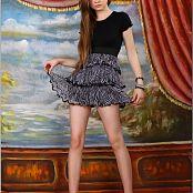 TeenModelingTV Bella Zebra skirt 3950