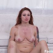 FacialAbuse Asian Looking Whore Throat Abused Picture Set & HD Video