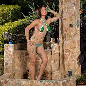 Poli Molina Green Thong and Body Paint TCG Set 006 175
