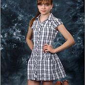 TeenModeling TV Lauren Plaid Dress Pics 4541
