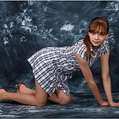 TeenModeling TV Lauren Plaid Dress Pics 4545
