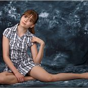 TeenModeling TV Lauren Plaid Dress Pics 4575