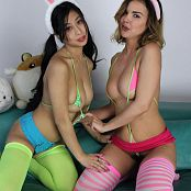 Teenikini Dillion Harper and Jade Kush Hump Bunnies Set 063 007