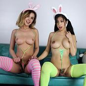 Teenikini Dillion Harper and Jade Kush Hump Bunnies Set 063 064
